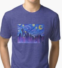 Starry Night Over Seattle Tri-blend T-Shirt