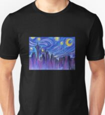 Starry Night Over Seattle Unisex T-Shirt