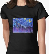 Starry Night Over Seattle Women's Fitted T-Shirt