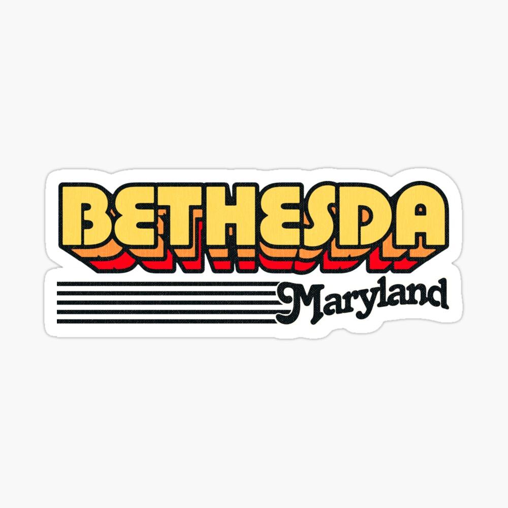 Bethesda, Maryland | Retro Stripes Sticker