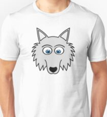 Sweet Cute Lovely Wolf Comic Dog (Gift, Present) Unisex T-Shirt
