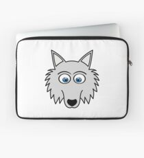 Sweet Cute Lovely Wolf Comic Dog (Gift, Present) Laptop Sleeve