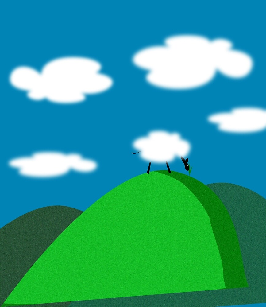 Sheep and Clouds by Thisis notme