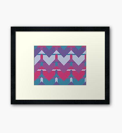 Cool Waves #redbubble #violet #pattern Framed Print