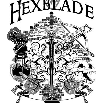 RPG Class Series: Hexblade - Black Version by Milmino