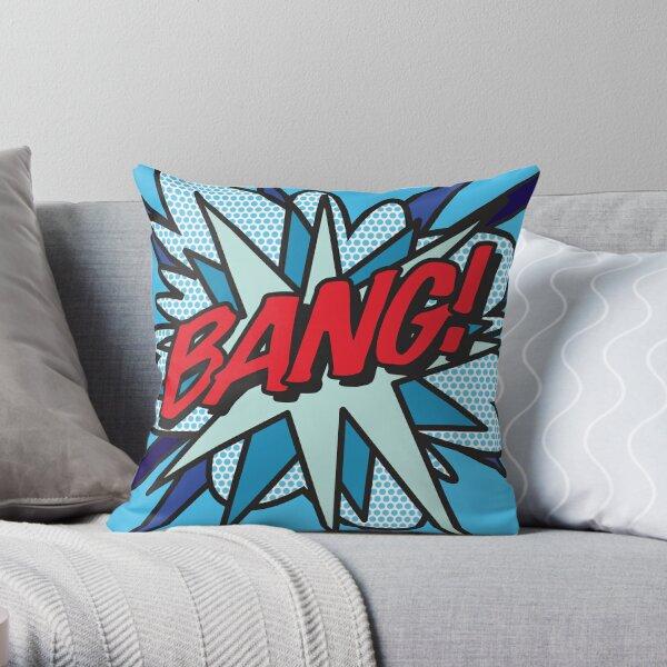 Comic Book Pop Art BANG! Throw Pillow