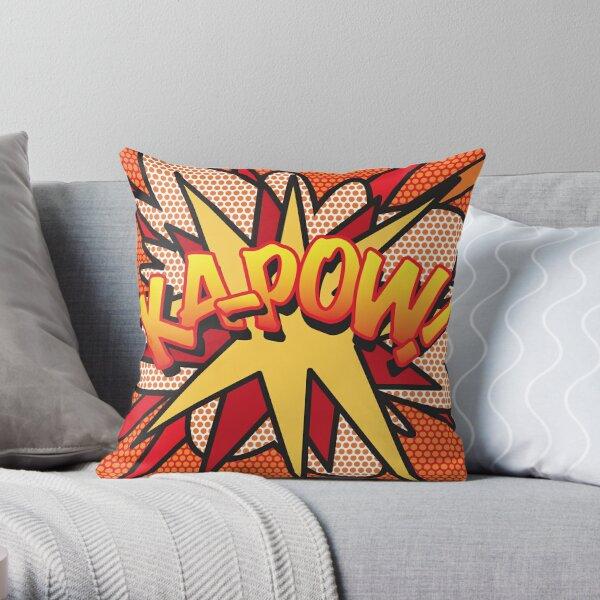 Comic Book Pop Art KA-POW! Throw Pillow