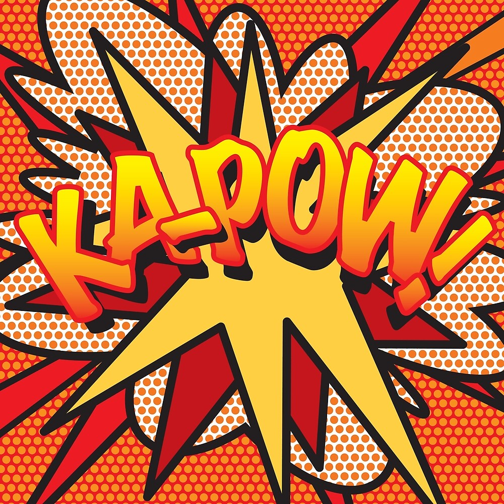 Comic Book Pop Art KA-POW! by Thisis notme