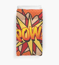 Comic Book Pop Art POW! Duvet Cover