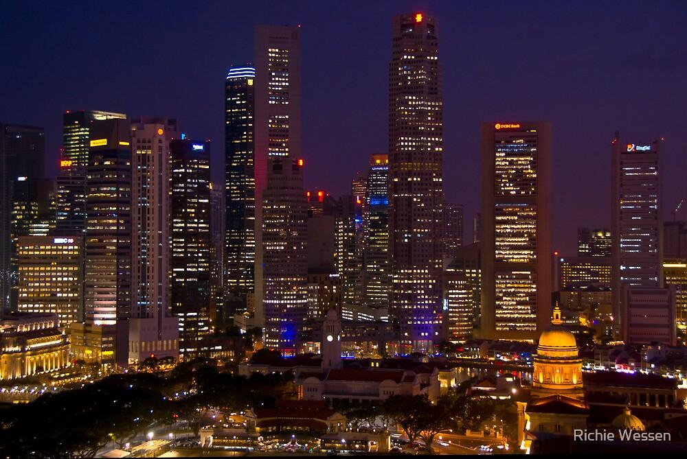 Singapore Skyline by Richie Wessen