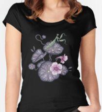 Black Indian cress garden. Women's Fitted Scoop T-Shirt