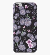 Black Indian cress garden. iPhone Case