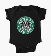 KUNG FU AND COFFEE - KUNG FU (DISTRESSED VERSION) One Piece - Short Sleeve