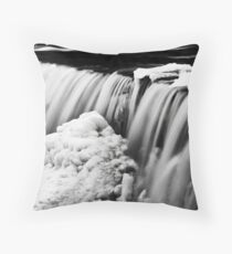 Water and Ice II Throw Pillow