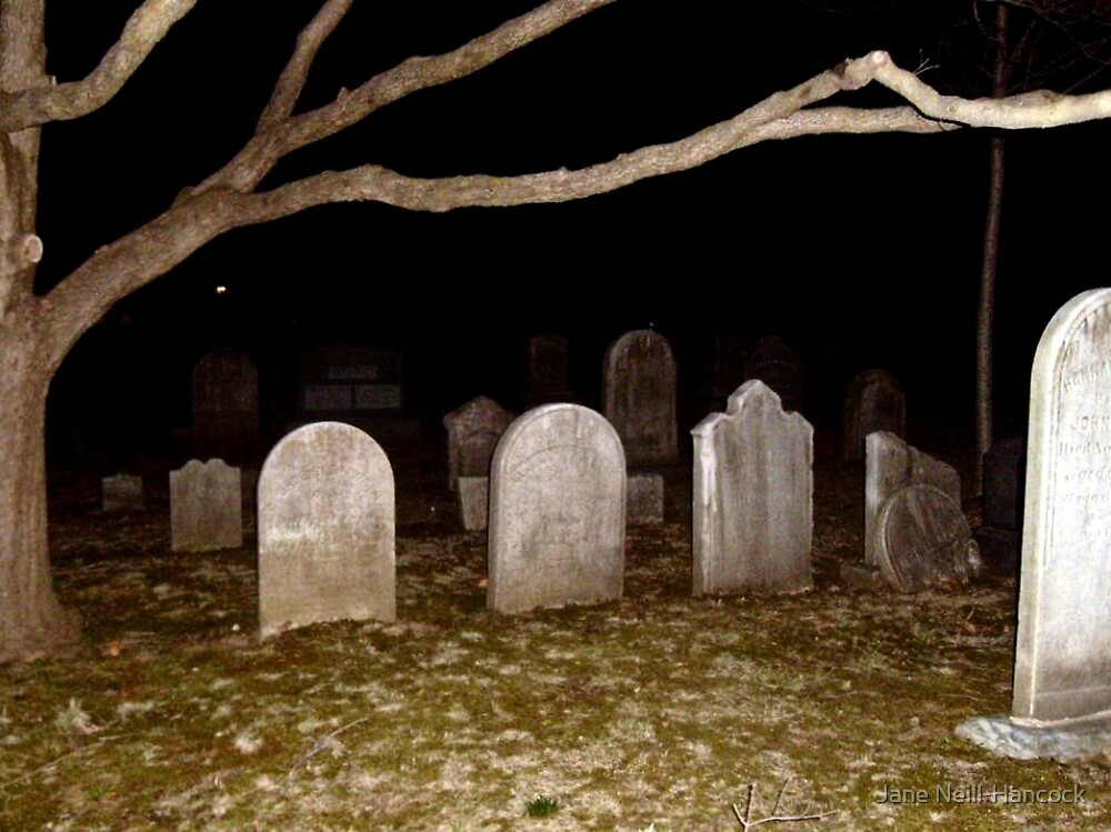 Haunted but Beautiful Cemetery by Jane Neill-Hancock
