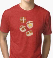 Hot Cross Buns Tri-blend T-Shirt