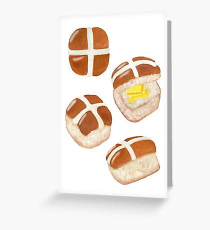 Hot Cross Buns Greeting Card