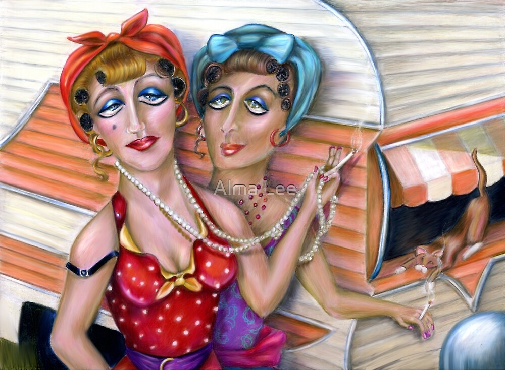 The Pink Trailer,  Trixie Sisters by Alma Lee