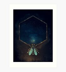 Bee Universe Art Print