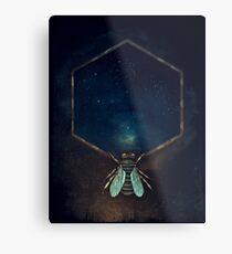 Bee Universe Metal Print