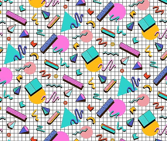 'Funky 80s eighties Memphis Pattern Design' Poster by SoNifty