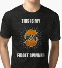 Cat Funny – Fidget Spinner  - gift for cat mom Tri-blend T-Shirt