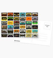 1980's Cassette Tapes Montage Postcards