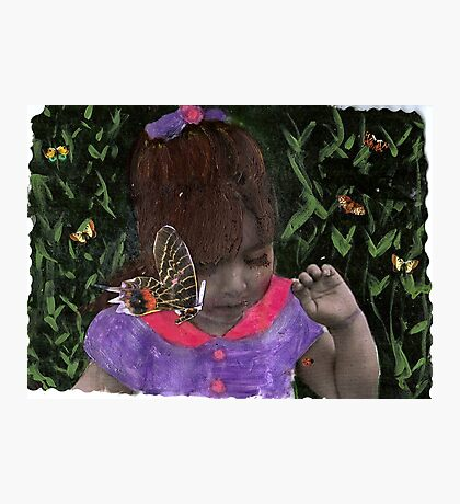 Butterfly Kisses (my Niece Alexandra) Photographic Print
