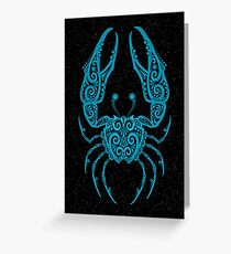 Blue Cancer Zodiac Sign in the Stars Greeting Card