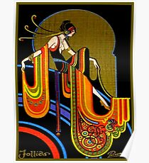 FLAPPER : Vintage 1920 Art Deco Beautiful Print Poster