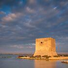 Tamarit Watchtower after sunrise by Ralph Goldsmith