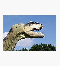 t-rex dinosaur head Photographic Print