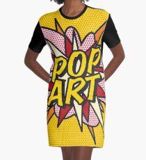 Comic Book POP ART Superhero Graphic T-Shirt Dress
