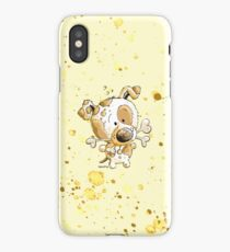 Little Puppy Dog With Giant Bones iPhone Case/Skin