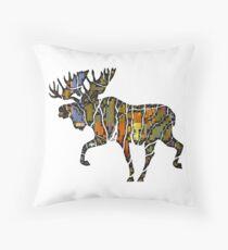 Moose Vibe Throw Pillow