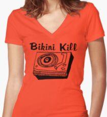 Bikini Kill Riot Grrrl Women's Fitted V-Neck T-Shirt