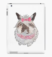 Watercolour Lionhead rabbit iPad Case/Skin