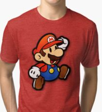 Custom Paper Mario Shirt Tri-blend T-Shirt