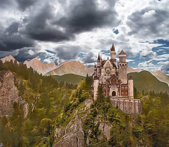 Castle Before The Storm by ArtByDrew