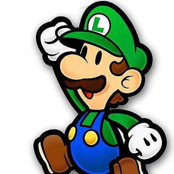 Custom Paper Mario Luigi Shirt by taydizzle25