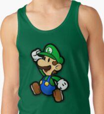 Custom Paper Mario Luigi Shirt Tank Top