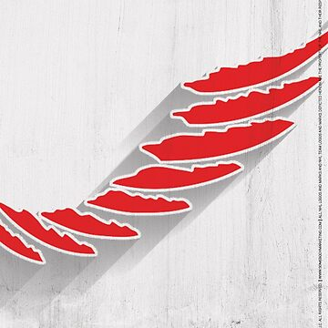 Detroit Red Wings Minimalist Print by SomebodyApparel