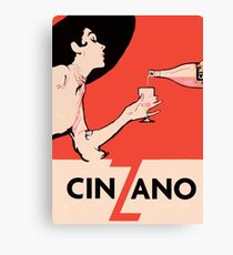 Vintage Vermouth Poster Canvas Print