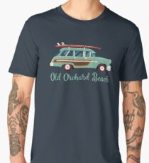 Old Orchard Beach Retro Surf Wagon Men's Premium T-Shirt