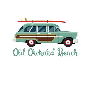 Old Orchard Beach Retro Surf Wagon by awkwarddesignco