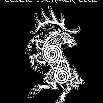 Celtic Elk Rampant by celthammerclub