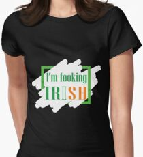 Irish t-shirt i'm f**king Irish Shirt, st patricks day T-shirt, for both men and women Women's Fitted T-Shirt