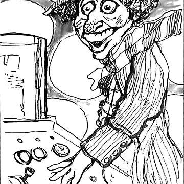 Tom Baker Peter Capaldi Drawing by 16TonPress