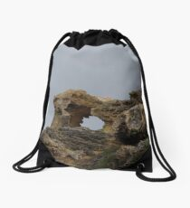 A Hole In The Rocks Drawstring Bag