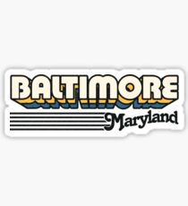Baltimore, Maryland | Retro Stripes Sticker